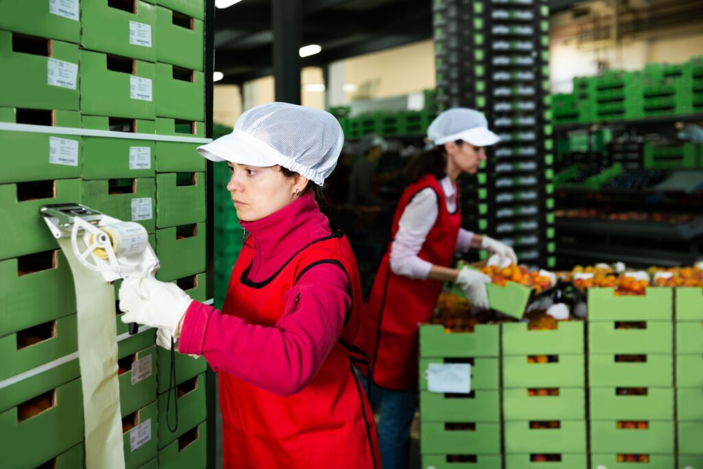 Workers following PCP Import Plan while importing food to Canada